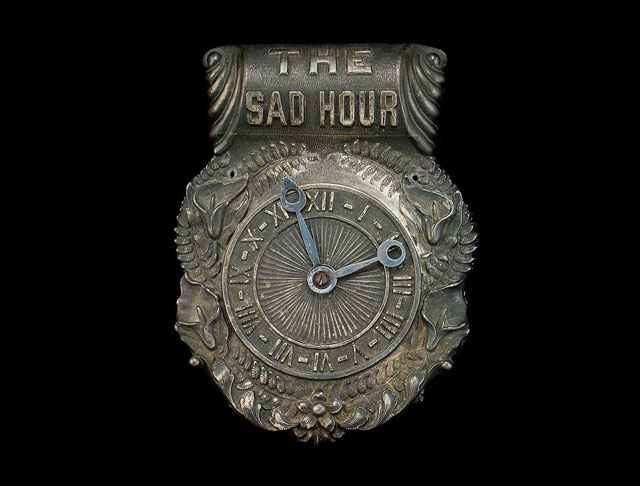 The Sad Hour coffin plaque