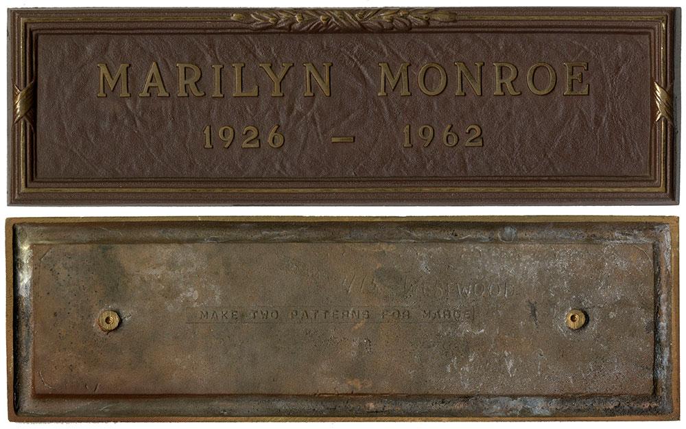 Marilyn Monroe's grave marker