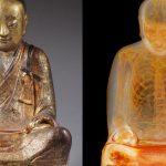 Mummified monk inside a Buddha statue
