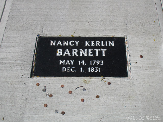 The grave of Nancy Kerlin Barnett in Indiana