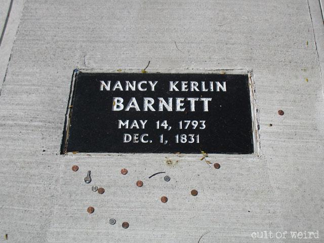 The grave of Nancy Kerlin Barnett in Indiana