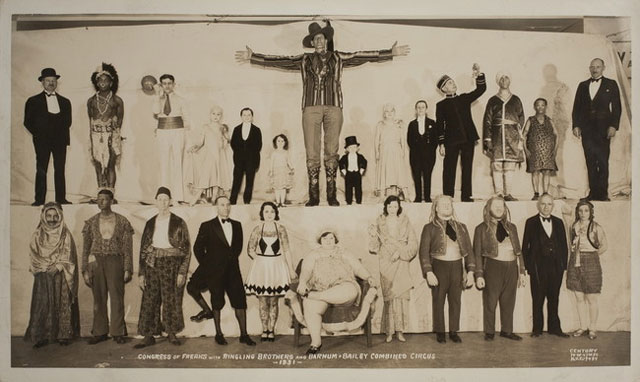 Congress of Freaks vintage circus sideshow photo