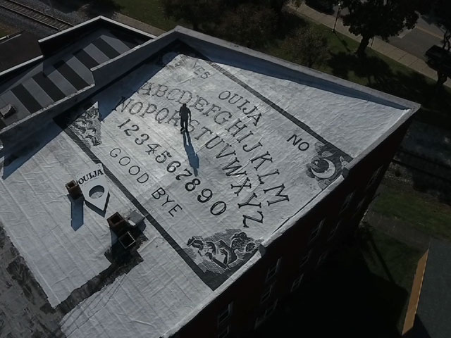 World's largest Ouija board on the roof of the Grand Midway Hotel