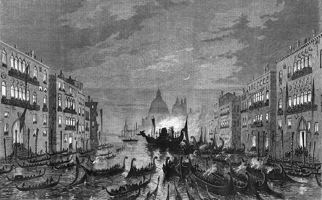 The funeral procession of Daniel Manin in Venice, 1868