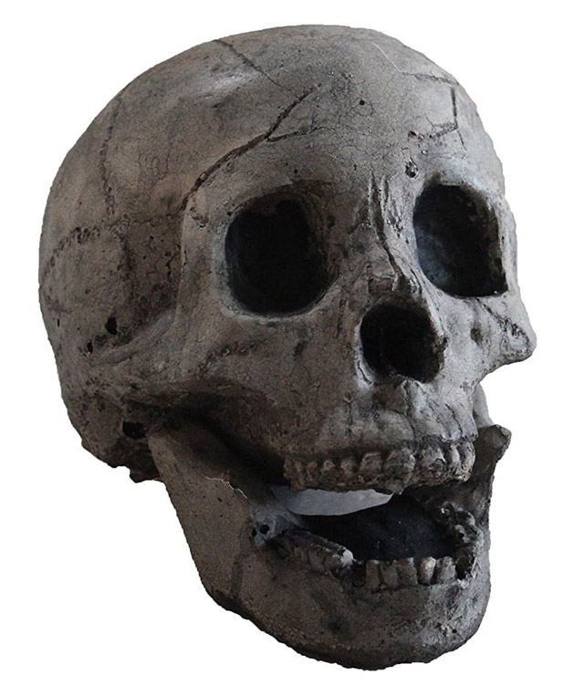 Skull-shaped logs for your fireplace or fire pit
