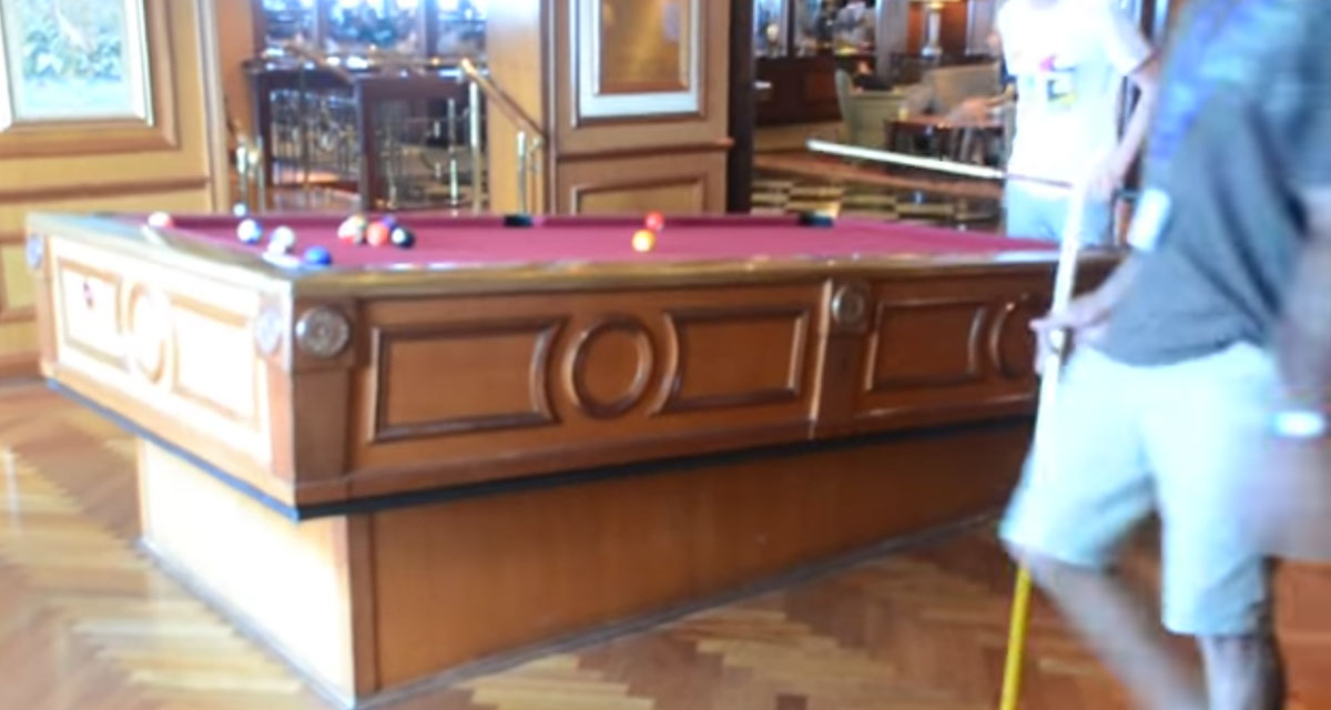 Cruise Ship Billiards Gyroscopic Pool Table Stays Level In Rough Waters - Milwaukee pool table movers