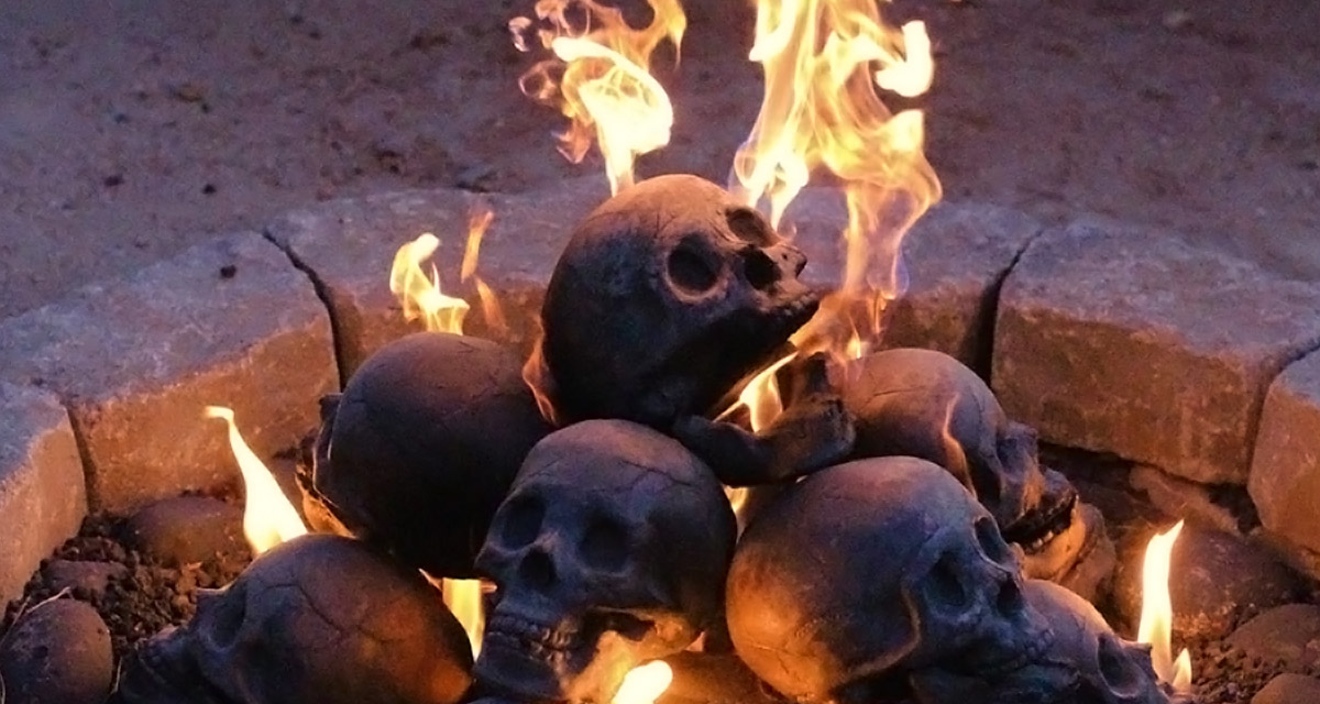 Skull Fireplace Logs: Macabre For Your Fire Pit