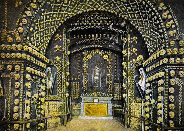 Lost chapel of bones in Malta