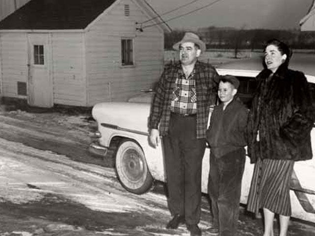 Senator Joe McCarthy and his family in Little Chute, Wisconsin, 1955