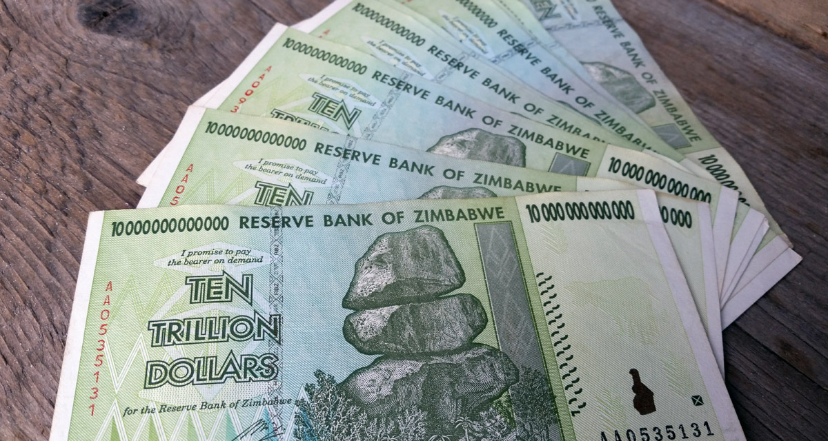 This Is What 100 Trillion In Worthless Zimbabwe Dollars