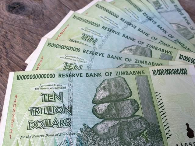 Zimbabwe $100 trillion dollars