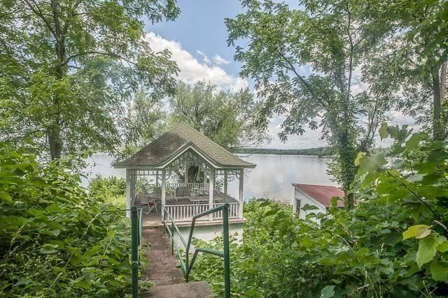 Wisconsin Amityville Horror house gazebo and boat house