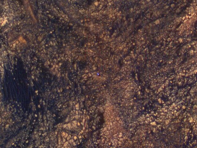 Curiosity Rover as seen from Mars orbit