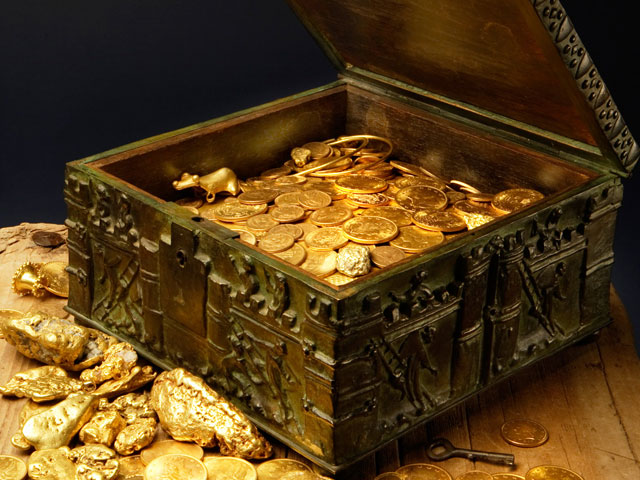 Chest containing the treasure of Forrest Fenn