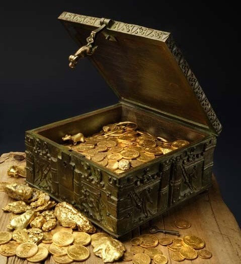 A photo of the treasure taken by Forrest Fenn