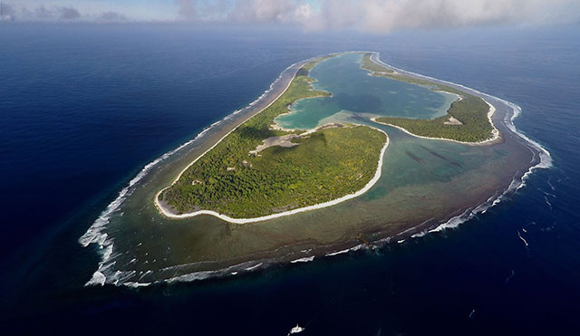 The island of Nikumaroro