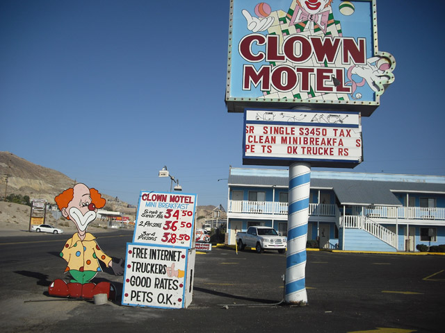 The Clown Motel of Tonopah, Nevada is for sale