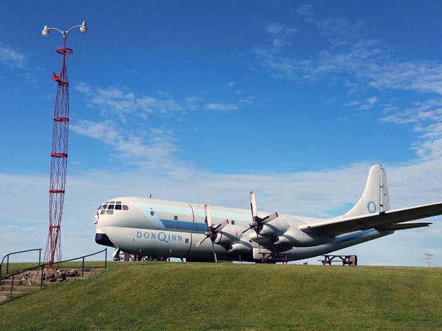 Don Q Inn plane - a Boeing C-97 Stratofreighter