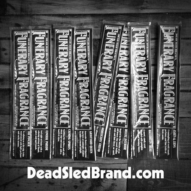 Funerary Fragrance incense from Dead Sled Brand