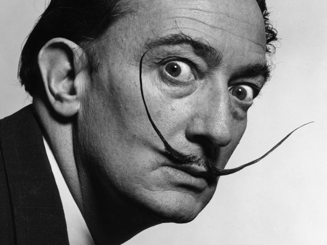 The mustache of Salvador Dali