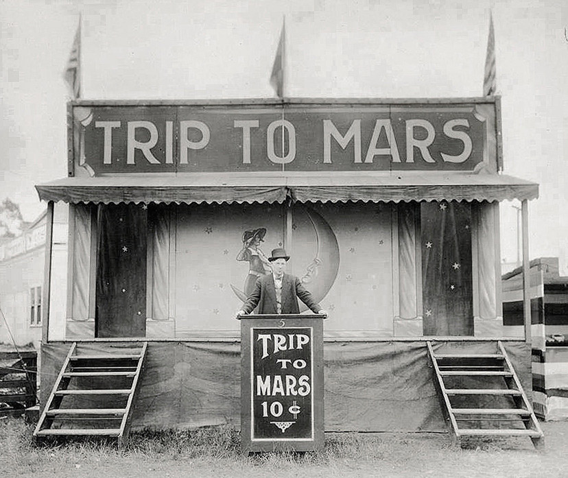 Trip to Mars vintage carnival photo