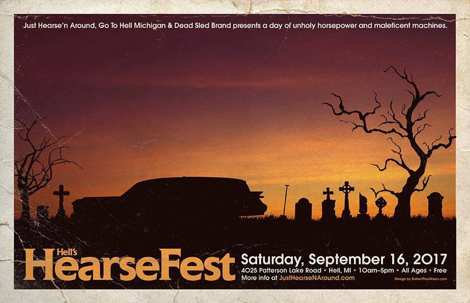 Hearse Fest in Hell, MI