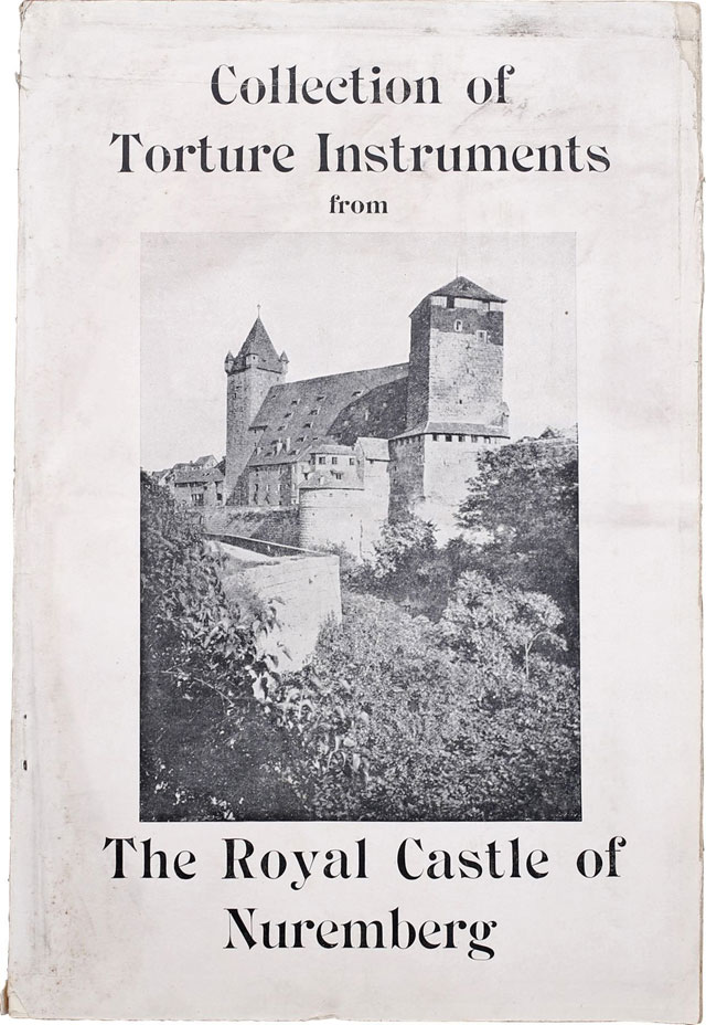 Cover of the Nuremberg Torture Collection exhibition souvenir catalog