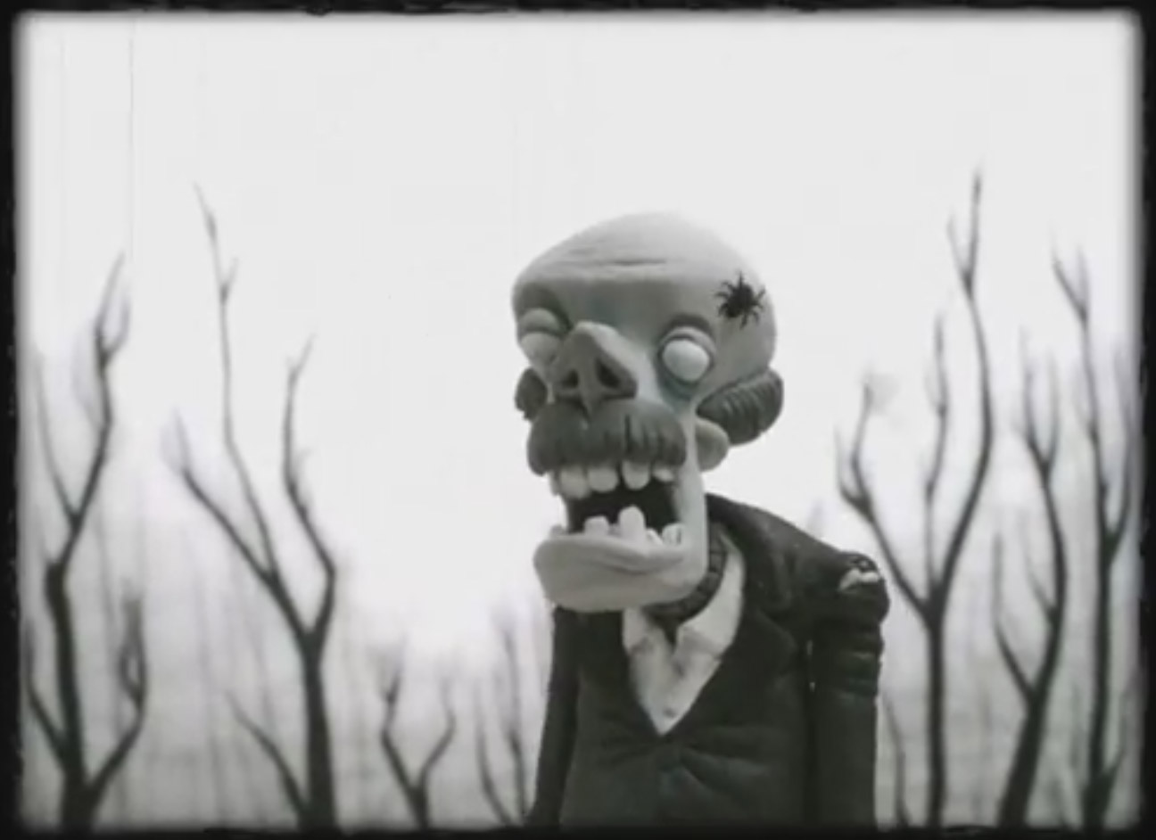 Spider vs the Living Dead stop motion animated short film for Halloween