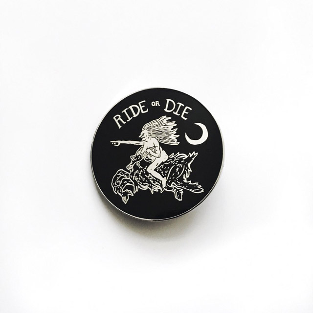 Ride or Die cloisonné pin by Bill Crisafi