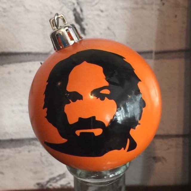 Charles Manson Christmas Ornament