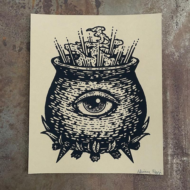 The Divine Crucible art print from Poison Apple Printshop