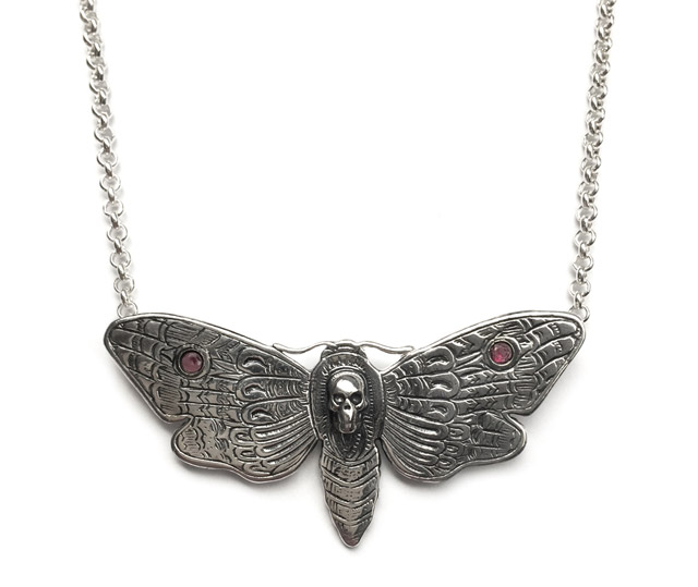 Deaths Head Moth pendant