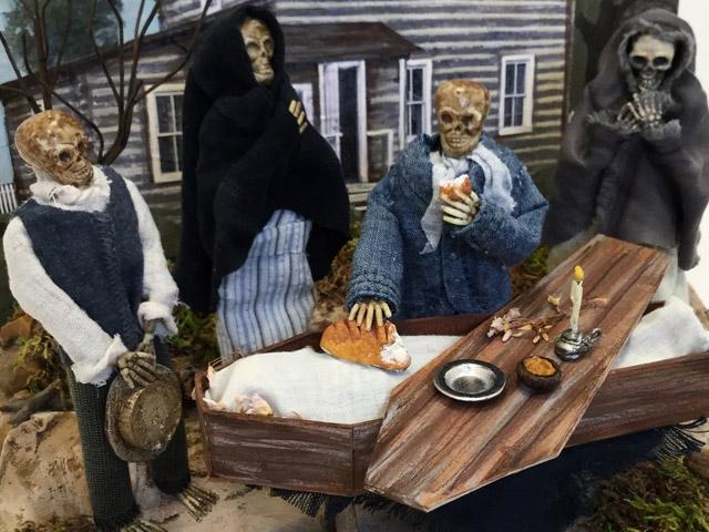 Skeleton dioramas