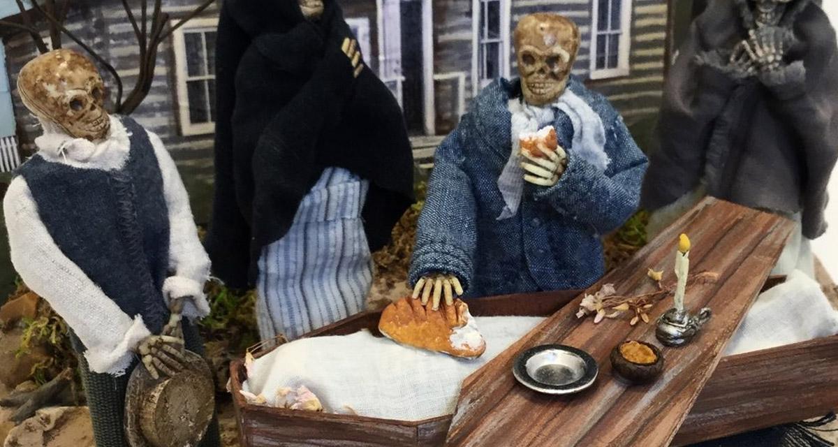 Sin Eaters miniature diorama by History Bones