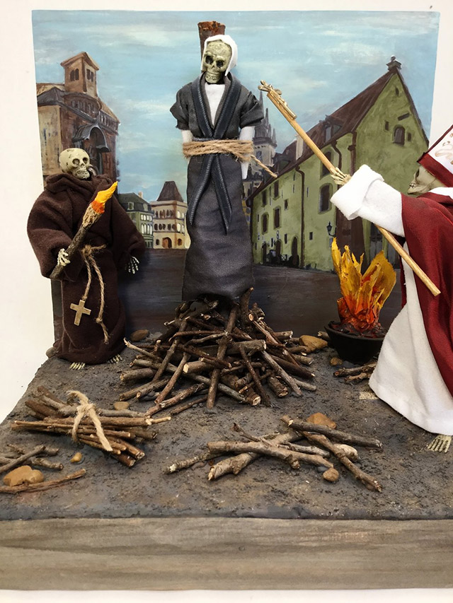 Medieval witch burning
