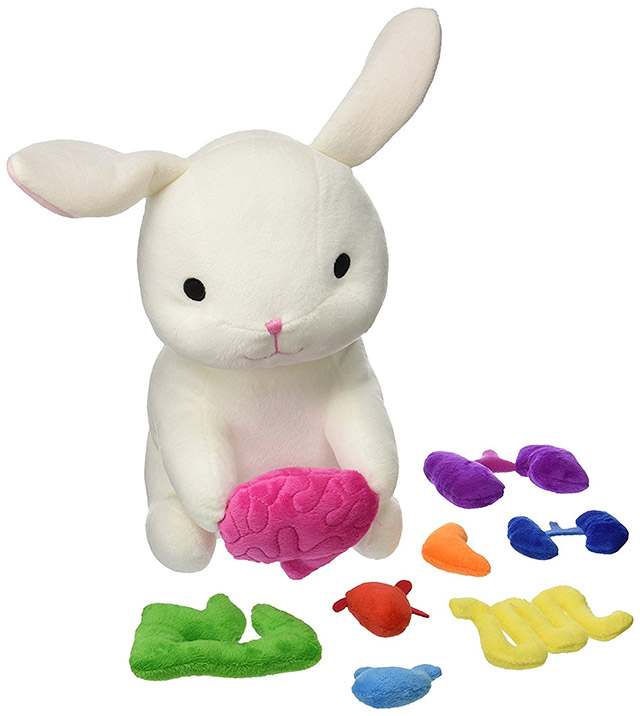 Giblets plush bunny with removable organs