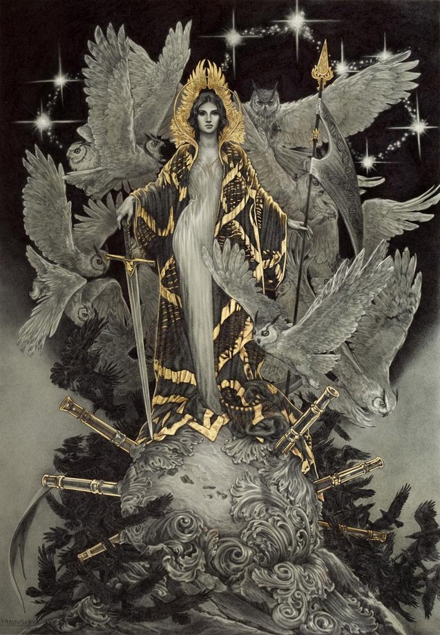 Wisdom art print by Rebecca Yanovskaya