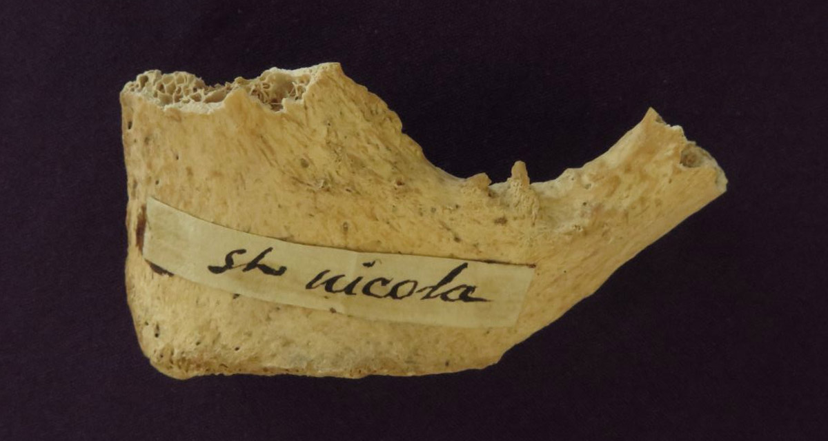 Bone fragment of St. Nicholas