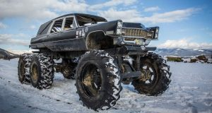 Mortis the monster truck hearse