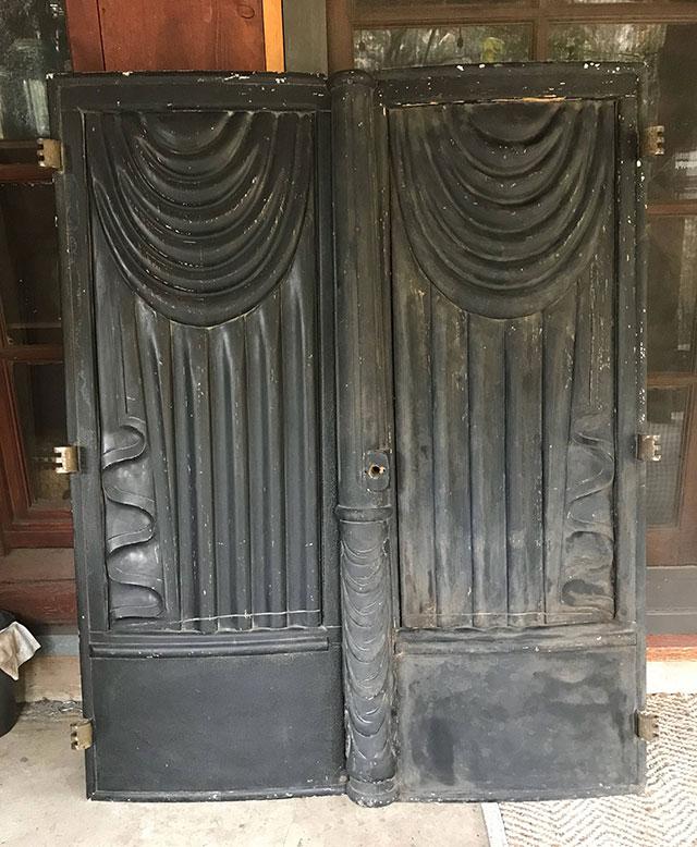 Victorian hearse doors