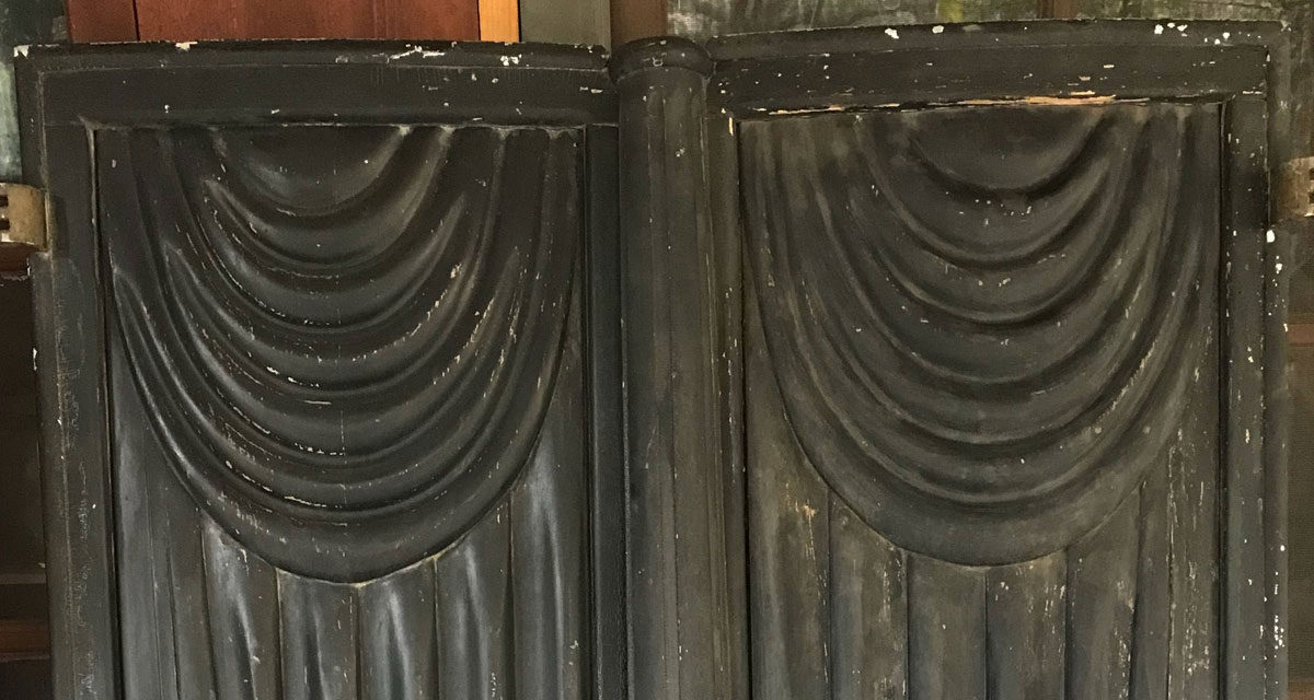 Vintage Victorian hearse doors