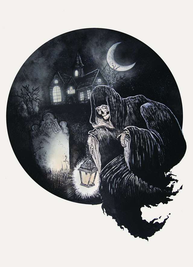 Grim Ghoul print by Meagan Meli