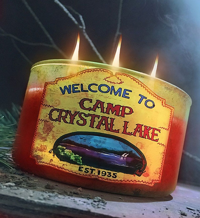 Camp Crystal Lake candle by Sick Wix
