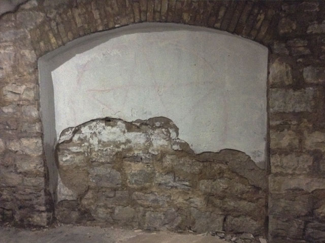 Calvary Cemetery crypt tunnel entrance
