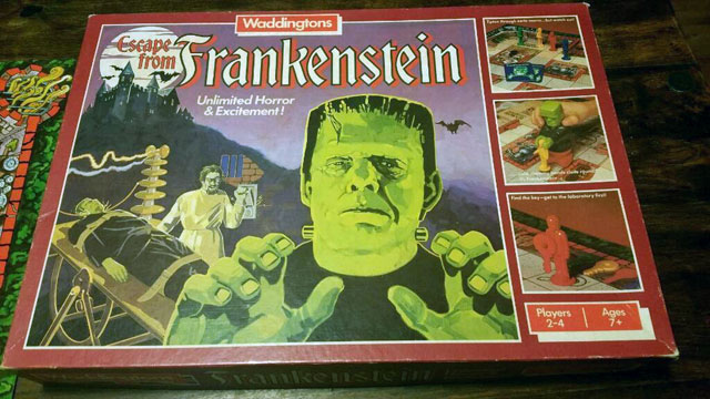 Escape from Frankenstein board game