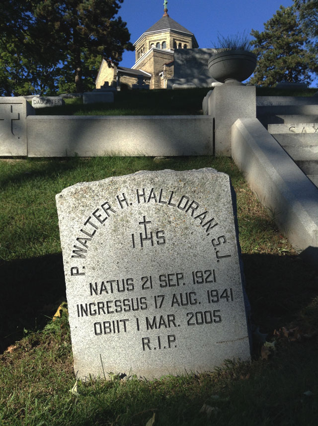 The grave of Exorcist priest Father Walter Halloran