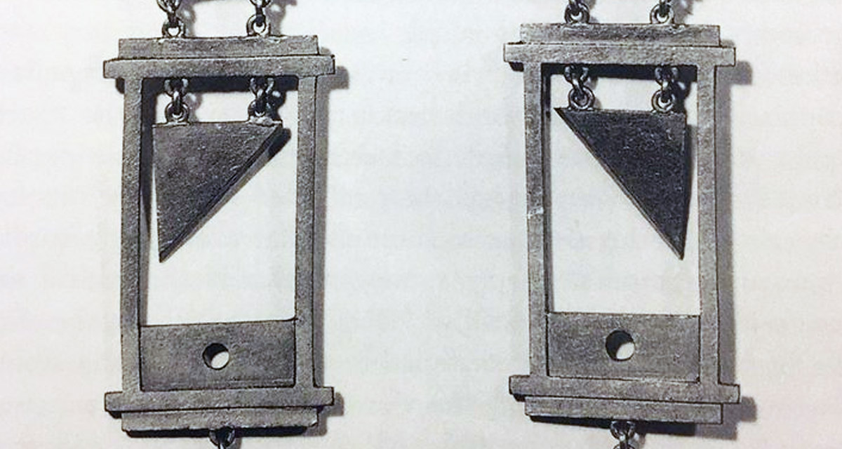 guillotine earrings guillotine earrings were the fashion during the of 3826