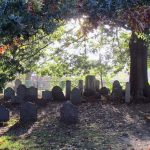 Salem graveyard during Halloween - Old Burying Point Cemetery