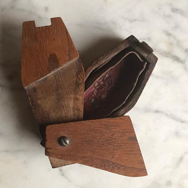 Antique coffin puzzle box