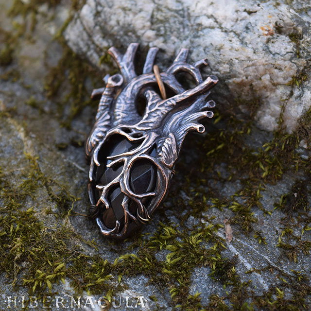 Black Heart pendant from Hibernacula